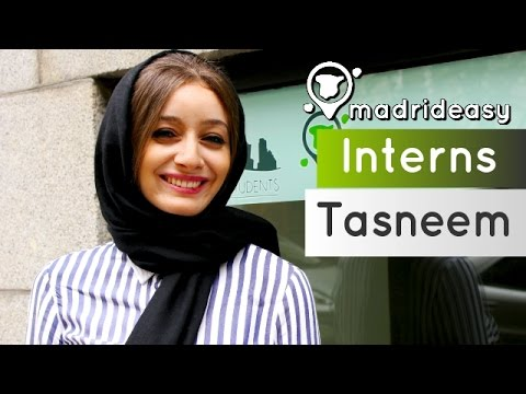 Tasneem from Libya working at MadridEasy | Interns