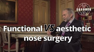 What is the difference between functional and aesthetic nose surgery ? (Q&A for patients)