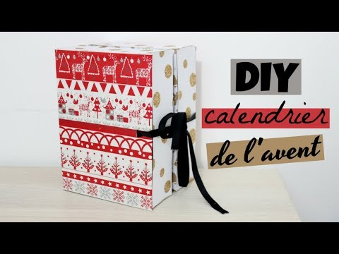 diy calendrier de l 39 avent en carton youtube