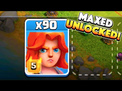 90 VALKS IN! - Clash of Clans - Finally Unlocking Maxed Valkyries!