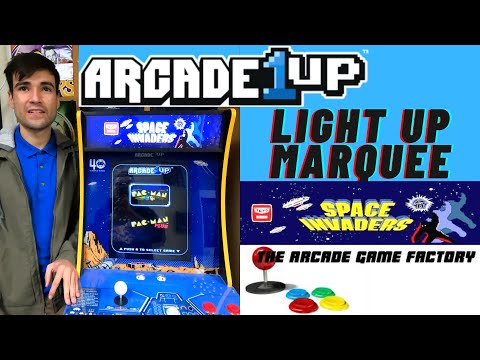 THE ARCADE GAME FACTORY $40 ARCADE1UP LIGHT UP MARQUEE REVIEW from Brick Rod