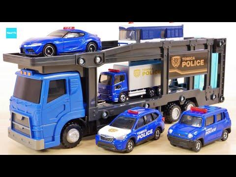 トミカパトカー4台つき! トミカポリス出動 ポリスキャリアカーセット / Tomica Police carrier car set