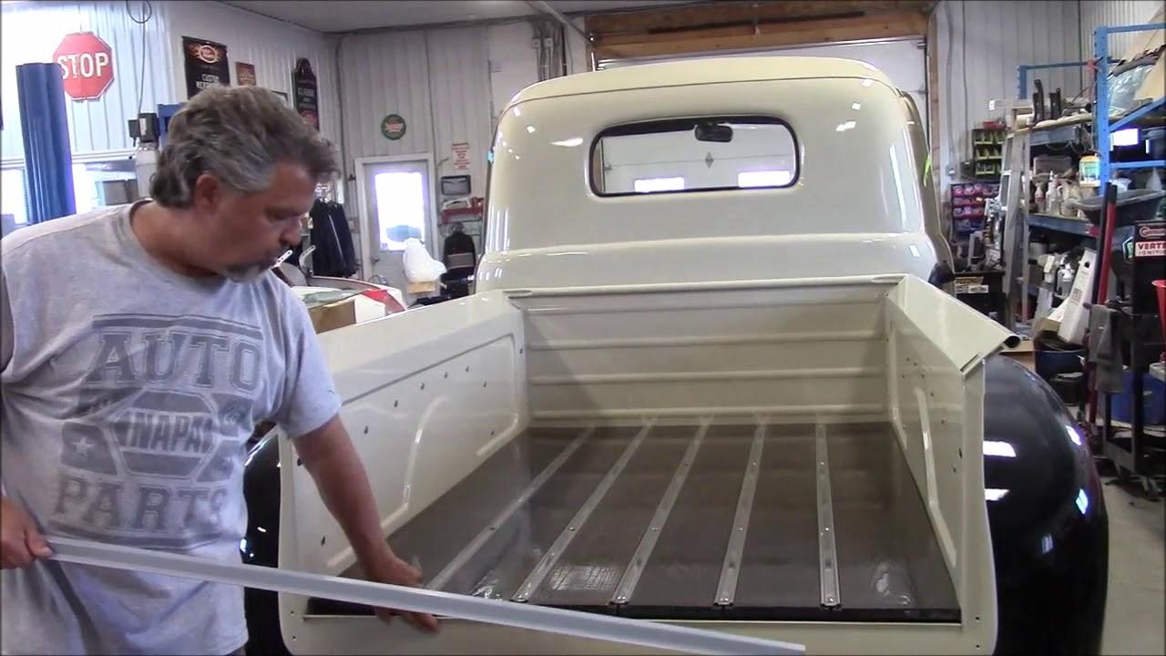 1950 Ford F47 F1 Truck Restoration Update, Oak Bed Floor Wood Now Installed