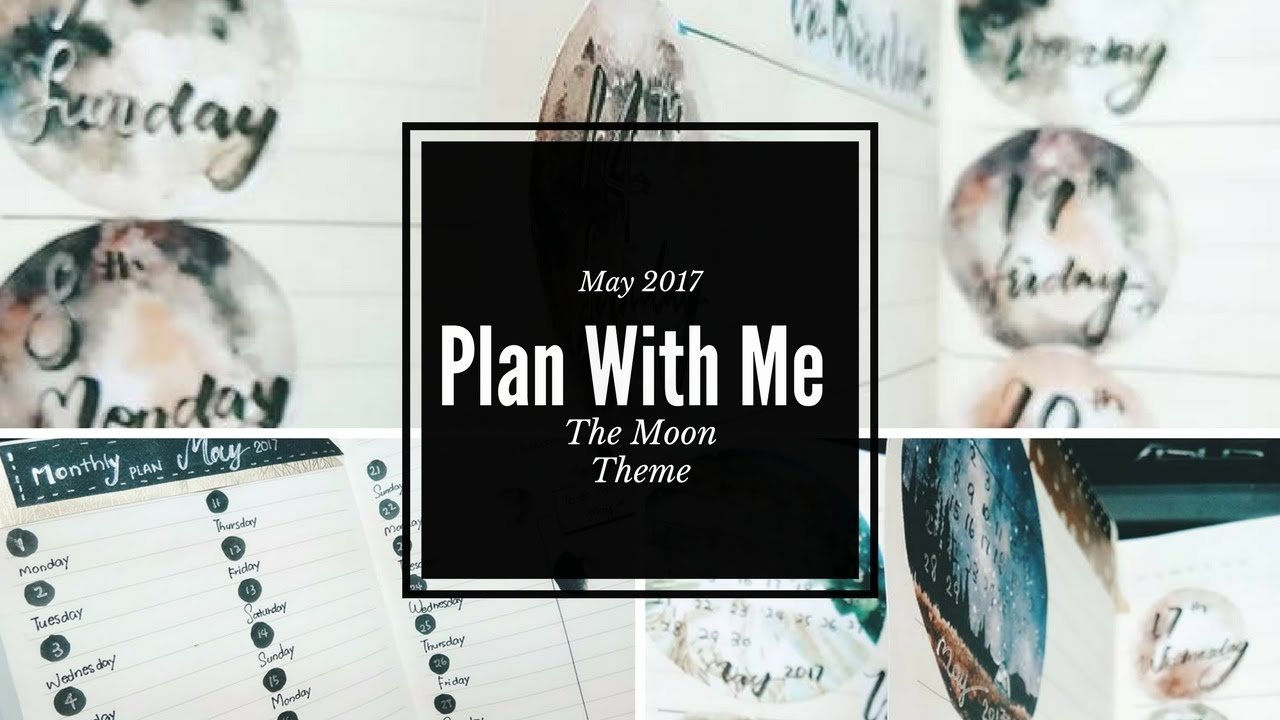 Plan With Me Bullet Journal May 2017 Moon Theme Youtube