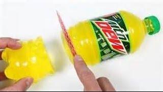 How to Make Mountain Dew Gummy Soda Bottle Shape Fun & Easy DIY Jelly Dessert! w?FilthyFrank