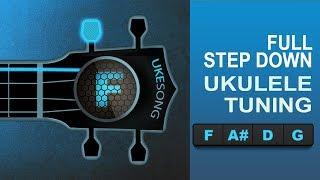 online ukulele tuner   full step down  ukulele tuning