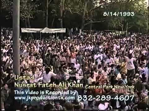 YouTube - Nusrat Fateh Ali Khan in Central Park New York