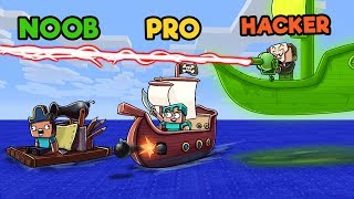 Minecraft - SINK THE PIRATE SHIP! (NOOB vs PRO vs HACKER)