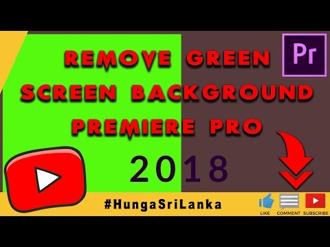 Remove green screen background | Premiere Pro | Easiest way 2018