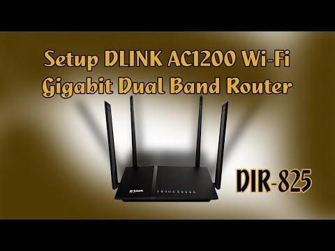 How to Setup Internet DLINK AC1200 Wifi Gigabit Router (DIR-825)