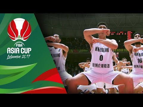 New Zealand's Haka in the crazy atmosphere of Lebanon (VIDEO) FIBA Asia Cup 2017