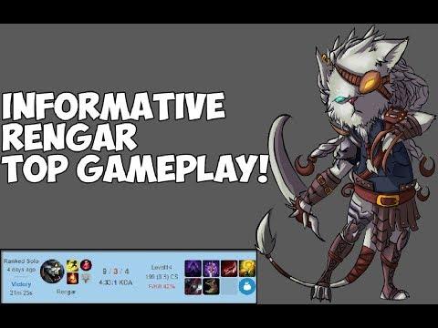Informative Rengar Top Gameplay