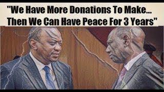 Uhuru And Ruto Exchange Barbs At Prayer Breakfast