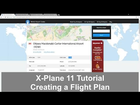 X-Plane 11 Creating a flight plan