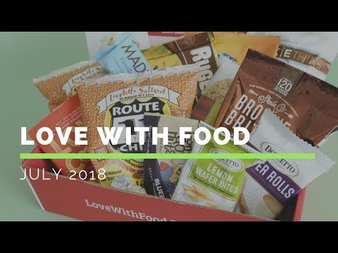 Love With Food Subscription Box Unboxing July 2018