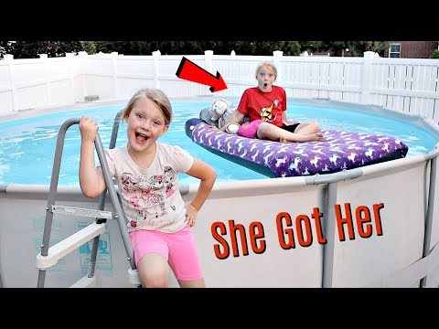 Taylors Bed in our Swimming Pool PRANK!