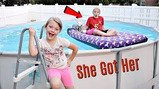 Taylor's Bed in our Swimming Pool PRANK!