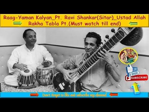 Sitar - Raga Yaman Kalyan By Pandit Ravi Shankar_Tabla - Ustad Allah Rakha Old Live Performance
