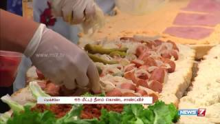 Mexico chefs create 65 meter length sandwich spl video news 31-07-2015 | World hot news today | News7 Tamil