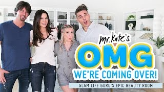 Download Epic Beauty Room Makeover for Tati Westbrook | Glamlifeguru x Mr. Kate | OMG We're Coming Over Mp3 and Videos