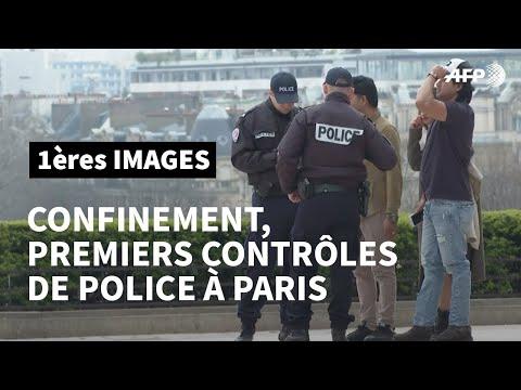 Coronavirus: premiers contrôles de police à Paris après le début du confinement | AFP Images