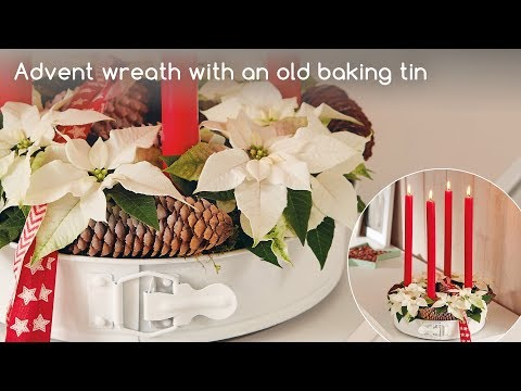 Decoration Idea For Consumers: Advent Wreath With Baking Tin