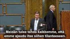 Perussuomalaisten ryhmäpuheenvuoro: koronavirus ja valmiuslaki 17.3.2020