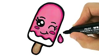 HOW TO DRAW A CUTE ICE CREAM