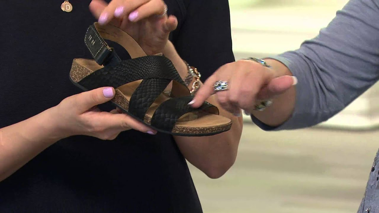 9be64dad8 Clarks Artisan Snake Print Suede Triple Strap Sandals - Perri Dunes with Carolyn  Gracie
