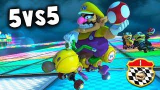 MARIO KART 8 DELUXE COMPETITIVO: RK vs MT | 5vs5 SNL CLAN WAR | Nintendo Switch