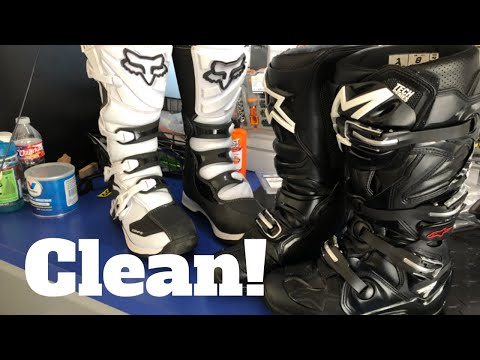 How To SUPER CLEAN Dirtbike Boots!
