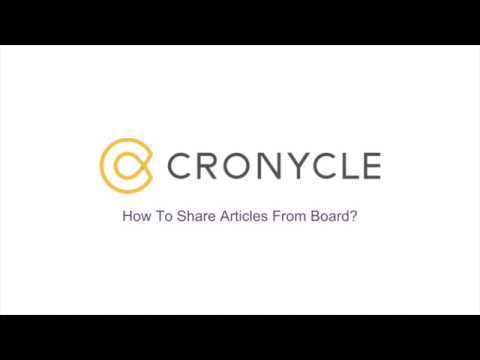 Sharing articles from board