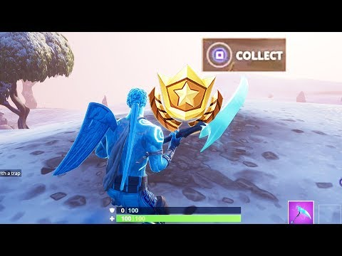 """Search Between a Mysterious Hatch, a Giant Rock Lady and a Precarious Flatbed"" Location Fortnite!"