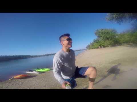 Kayaking at the Sac State Aquatic center