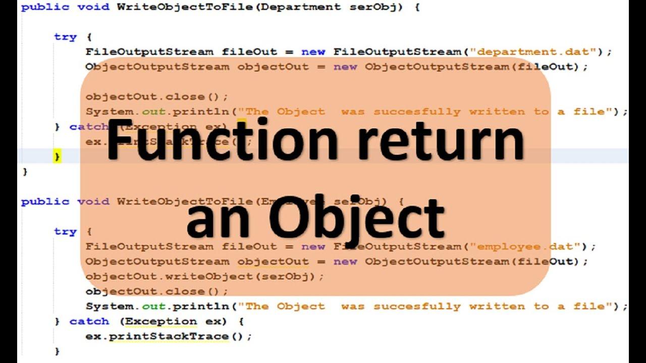 Lập trình Java – Viết hàm return về Object