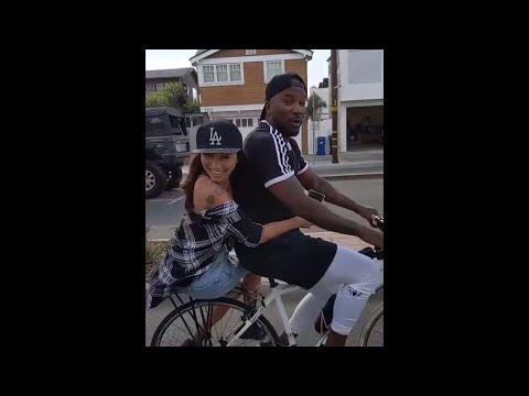 JEEZY & JEANNIE MAI TAKE A ROMANTIC RIDE THROUGH THE STREETS ON A BICYCLE