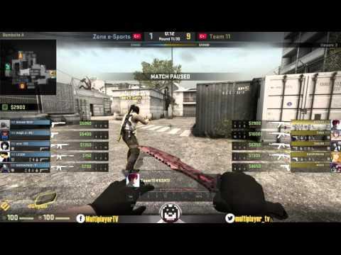 Multiplayer CS:GO Türkiye Şampiyonası 4. Ayak Yarı Final Maçı Zone E-Sports vs Team11
