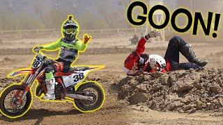 DANGERBOY DEEGAN back on his dirt bike after a BAD CRASH!!!