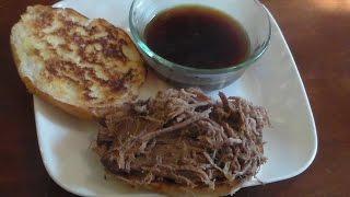 Pressure Cooker Beef Dip Sandwiches
