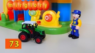 Машинки мультфильм - Город машинок 73 серия: Тракторы на автомойке. Развивающие мультики mirglory