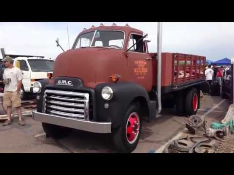 1953 GMC 2, 1/2 Ton Cab Over Flat Bed Truck, Commercial