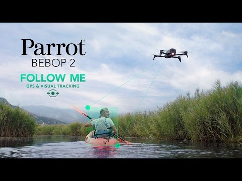 Video Parrot Bebop 2 - Follow-me GPS & visual tracking