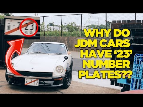 """Why Do JDM Cars Have """"23"""" Number Plates?"""