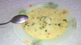Сырный суп с овощами // Cheese soup with vegetables
