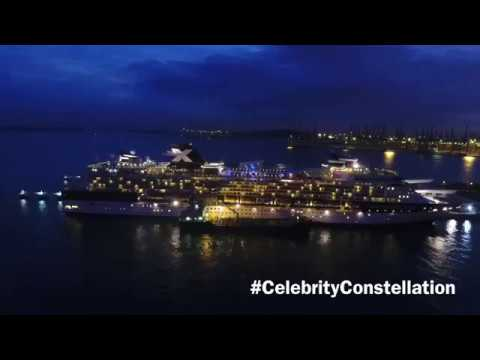 Celebrity Constellation in Singapore by drone