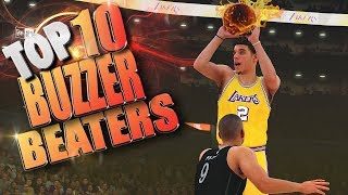 TOP 10 CLUTCH Shots, BUZZER Beaters & Game WINNERS - NBA 2K18 Highlights