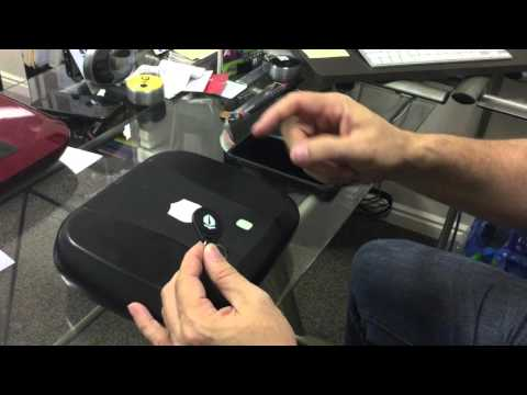 How to program a fingerprint using an RFiD programmed key tag.