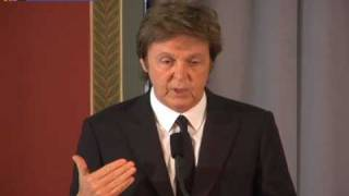 Sir Paul McCartney at the Library of Congress