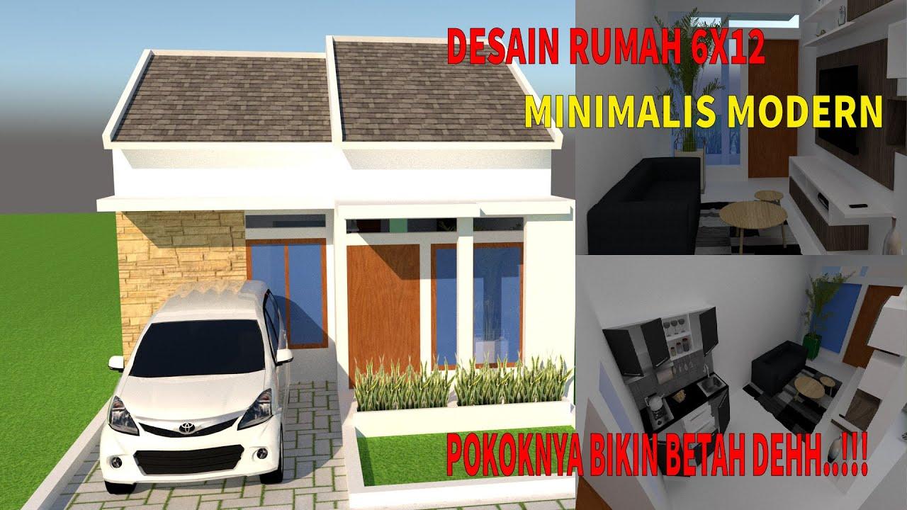 Desain Rumah 6x12 Minimalis Modern - YouTube