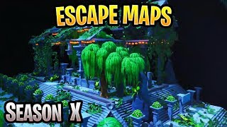 Fortnite Escape & Puzzle Maps With Codes (Season X)